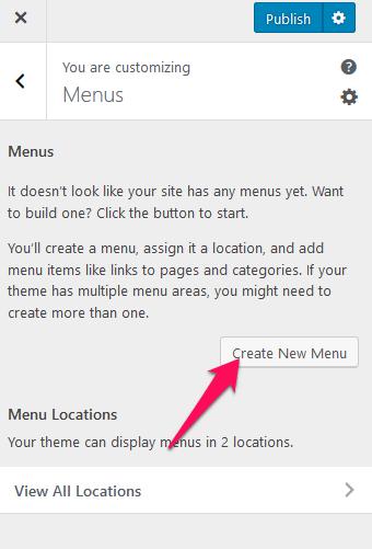 Create a menu university zone