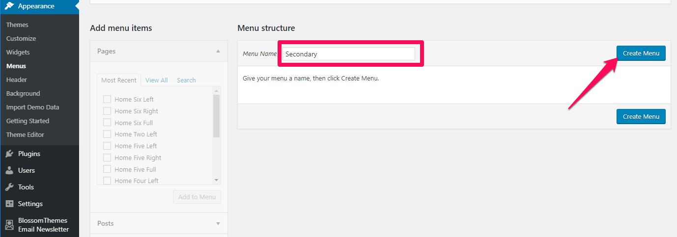 Create-a-menu