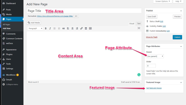 Create a page raratheme
