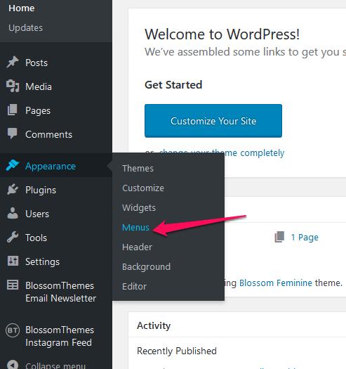 Create-menu-from-dashboard-raratheme