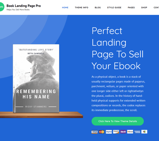 Book Landing Page Pro Documentation