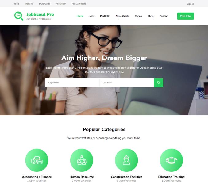 JobScout Pro WordPress Theme