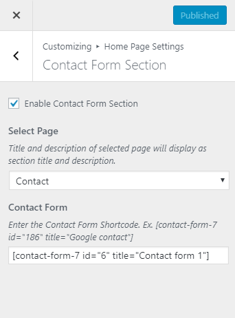 Contact Form Section for construction company