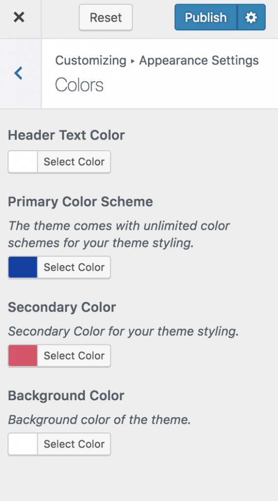 Colors-setting-Influencer pro