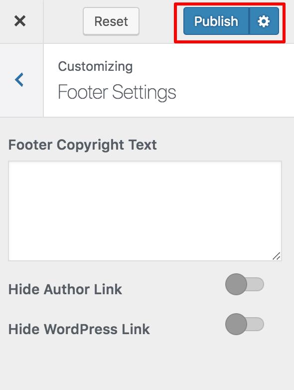 Footer-Settings