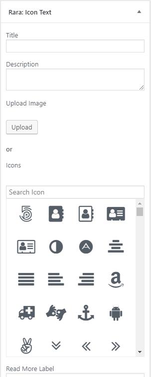 Icon-text-Widget