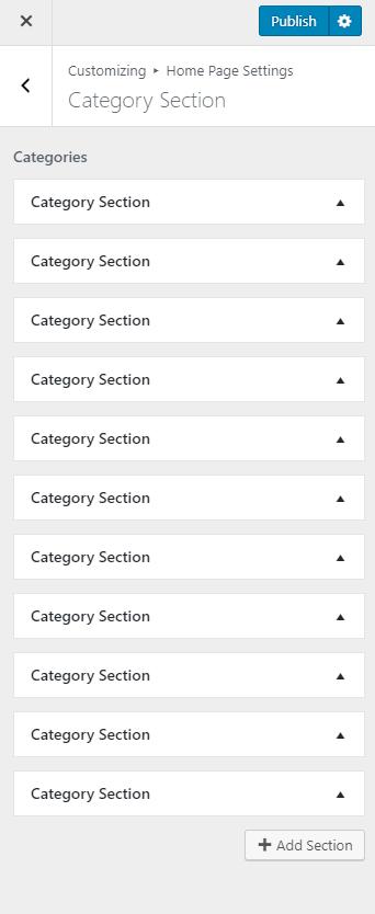 category section metro magazine pro