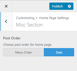 Skip to main contentSkip to toolbar About WordPress Documentation 00 Comments in moderation New View Documentation Protect WP Admin Howdy, Nijan Khatiwada Log Out Screen Options Edit Documentation Add New Add title How to Configure Misc Section? Permalink: https://docs.rarathemes.com/docs/metro-magazine-pro/homepage-settings/how-to-configure-misc-section/ Edit Add MediaVisualText Paragraph Word count: 35 Draft saved at 8:41:44 am. Last edited on July 19, 2019 at 8:32 am Toggle panel: Select the content BEFORE: Select the suitable common content from the drop down below. AFTER: Select the suitable common content from the drop down below. Toggle panel: Votes Count 0 0 Toggle panel: Publish Preview Changes (opens in a new tab) Status: Published Edit Edit status Visibility: Public Edit Edit visibility Published on: Jul 19, 2019 @ 08:32 Edit Edit date and time Move to Trash Toggle panel: Tags Add New Item Separate items with commas Choose from the most used Toggle panel: Page Attributes Parent Order 7 Toggle panel: Featured Image Set featured image Toggle panel: Excerpt Toggle panel: Discussion Allow comments Allow trackbacks and pingbacks on this page Toggle panel: Comments Add comment No comments yet. Version 5.2.2 Close media panel Add Media Filter by typeFilter by dateSearch Media Search media items... Attachments list ATTACHMENT DETAILS Misc-Section-metro-magazine-pro.png July 19, 2019 11 KB 298 by 276 pixels Edit Image Delete Permanently Alt Text Describe the purpose of the image (opens in a new tab). Leave empty if the image is purely decorative.Title Misc Section metro magazine pro Caption Description Copy Link https://docs.rarathemes.com/wp-content/uploads/2019/07/Misc-Section-metro-magazine-pro.png Smush Reduced by 4.2 KB ( 31.2% ) Image Size: 11.4 KB View Stats ATTACHMENT DISPLAY SETTINGS Alignment Link To Size 1 selected Clear Insert into page