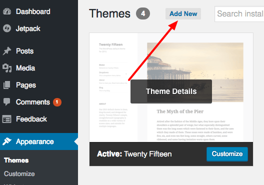add new theme for app landing page