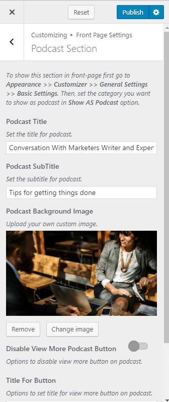 Podcast-Section