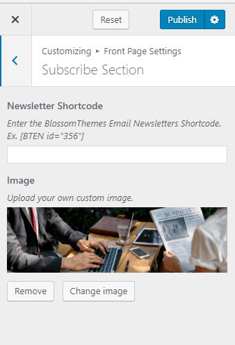 Subscribe-Section