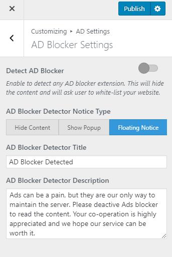 ad blocker settings metro magazine pro