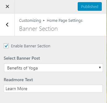 banner settings for pranayama yoga