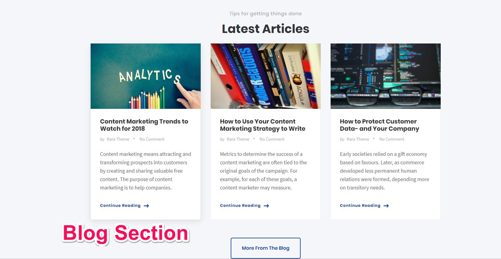 blog section influencer pro