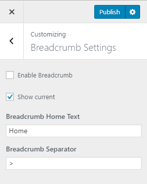 breadcrumb settings construction company