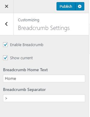 breadcrumb settings for preschool and kindergarten