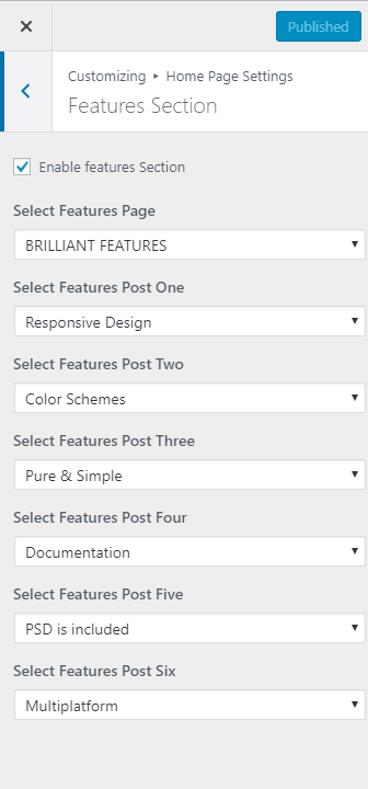 features section for app landing page