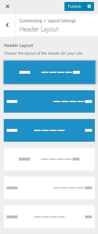 header layout influencer pro