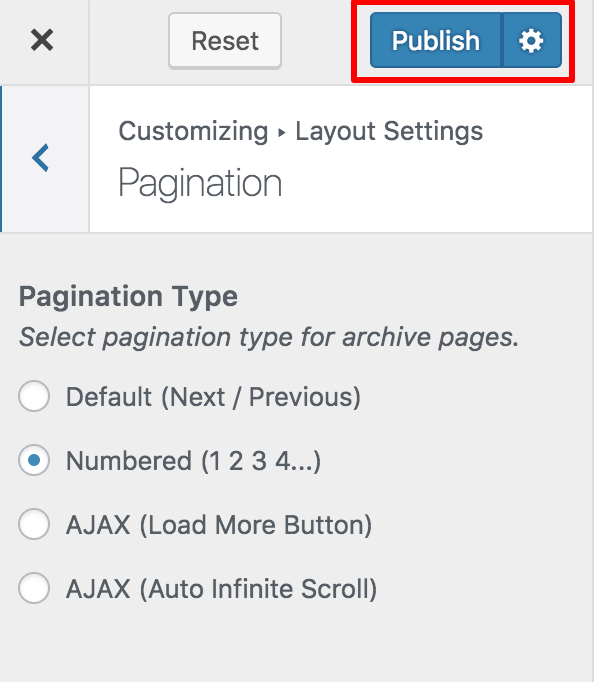 pagination for influencer pro