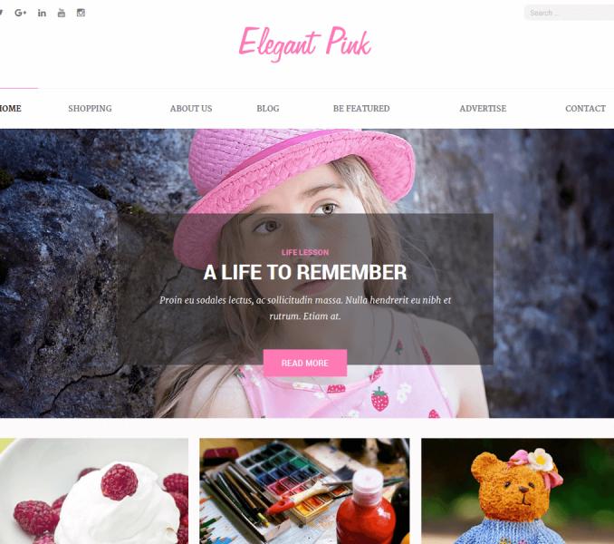 Elegant Pink Pro Wordpress Theme