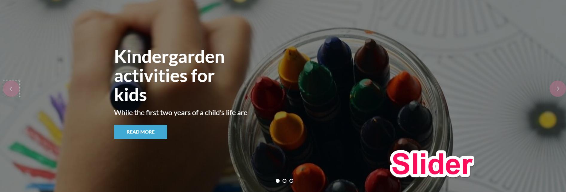 slider for preschool and kindergarten