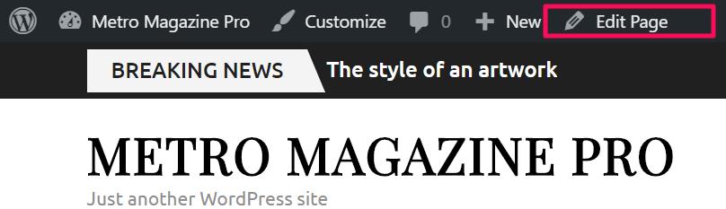 edit page metro magazine pro